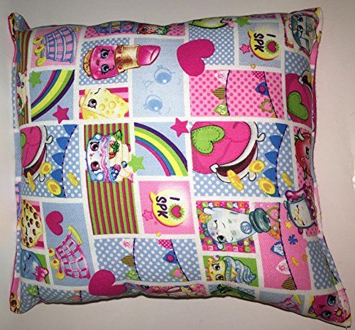 """Shopkins Pillow HANDMADE Shopkin Pillow Game, Cartoon, Collection Made in USA Pillow is approximately 10"""" X 11"""" * Click on the image for additional details."""