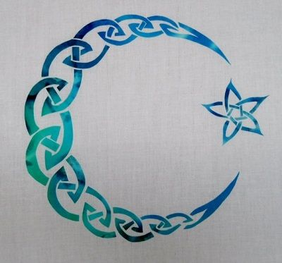 Celtic Applique Patterns | Celtic Moon and Star Applique Pattern
