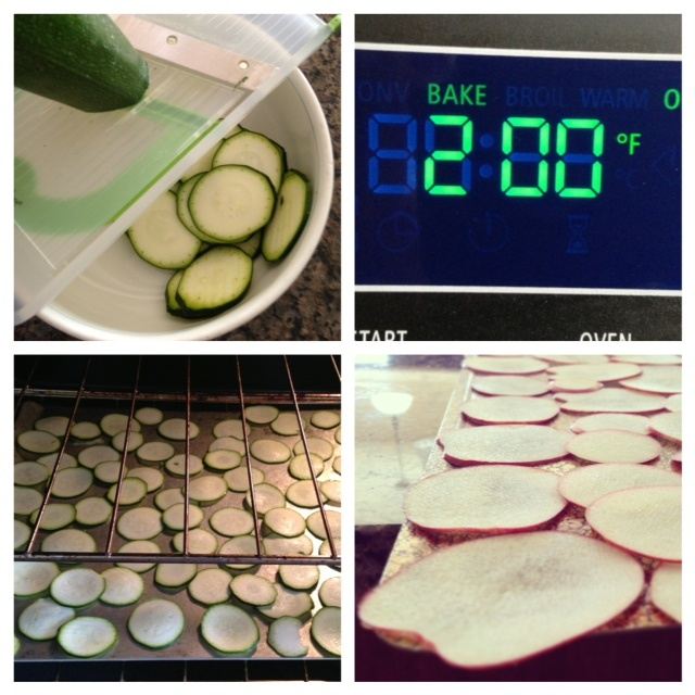 Simple way to make healthy snack - zucchini chips, baked apple cinnamon chips. Cook for 2 hours at 200 degrees. Add spices to taste. YUM.