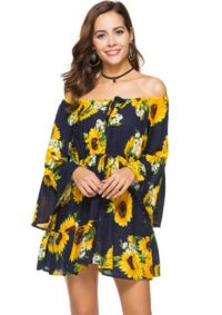 Sunflower dress Wild Billy online fashion boutique! Free shipping and nothing over $50!
