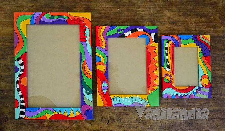 Hand-painted wood frames