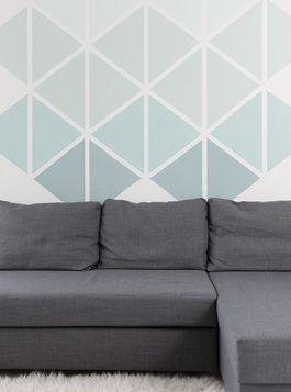 Tutoriel DIY: Réaliser un mur géométrique avec des triangles via DaWanda.com