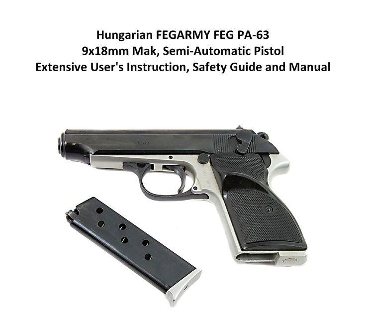 Hungarian Fegarmy Feg Pa XMm Mak SemiAutomatic Pistol