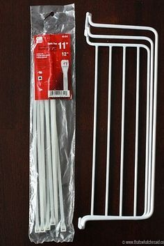 Or buy a basic wire rack and some zip ties to keep them on the inside of your cabinet door. | 16 Smart Dollar Store Ideas To Organize Your Kitchen