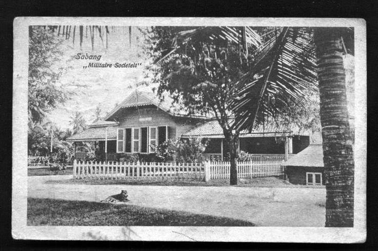 Societeit Militaire at Sabang Aceh Sumatra Indonesia ca1920