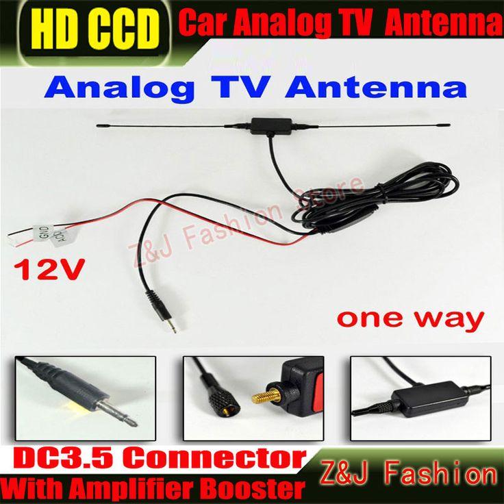 DC3.5 Разъем Автомобиля аналогового ТВ антенна с встроенный усилитель сигнала Автомобиля ТЕЛЕВИЗИОННАЯ антенна Аналоговый антенна Автомобиля Аналоговый Антенна