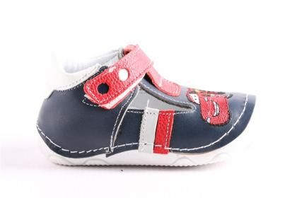 Pepee Erkek Çocuk Kırmızı Siyah Hakiki Deri Phaylon Taban Ortopedik İlk Adım Bebe Ayakkabı