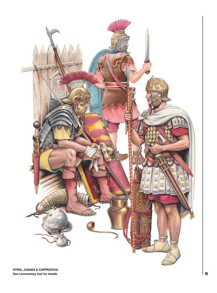 Подразделения римской армии в восточных провинциях: Сирия, Иудея, Каппадокия