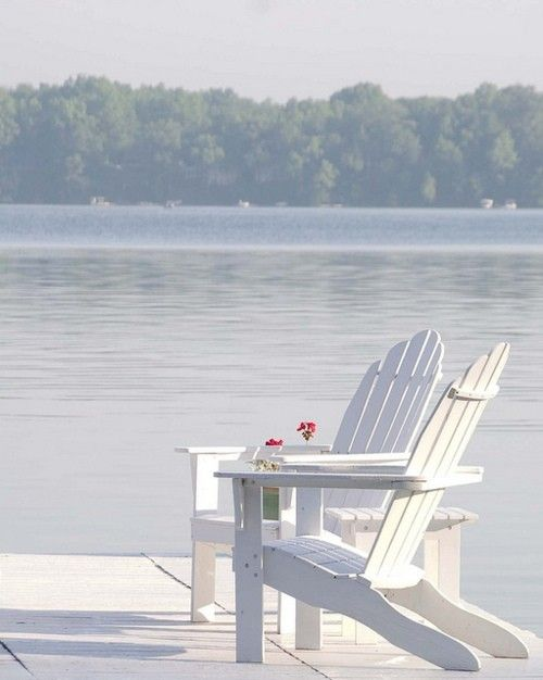 Just RelaxSunday Mornings, Adirondack Chairs, Lakes House, Dreams, Cups Of Coffe, Peace, Mornings Coffee, White, Places