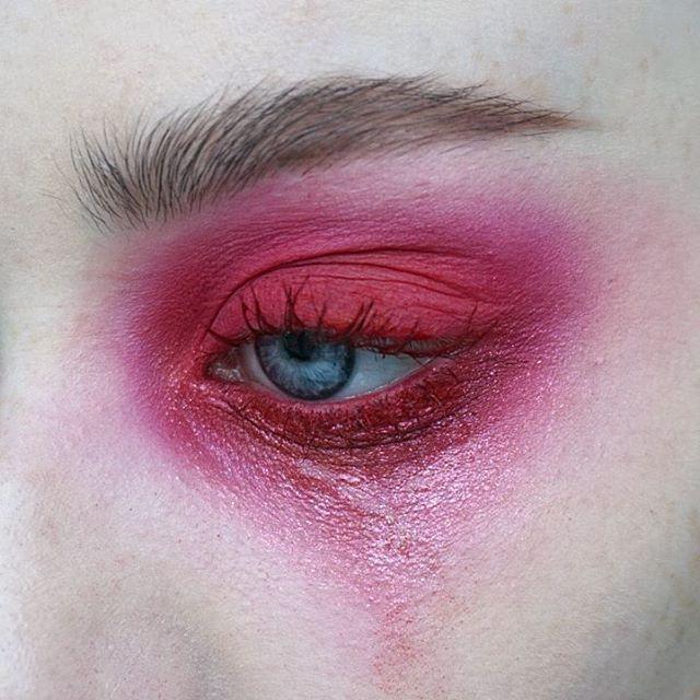 d y s m e n o r r h e a | Products: @viseart Editorial Brights palette + @urbandecaycosmetics Moondust palette (element) + @katvondbeauty liquid lipstick in Outlaw on the lashes | Brows: @artdeco_cosmetics brow gel + @narsissist Bellissima duo | #mua #makeupartist #artist #eyes #blueeyes #freckles #skin #mine #mywork #eyemakeup #red #liquidlipstick #eyeshadow #abstract #editorial #editorialmakeup #brows #bushybrows #fluffybrows #lashes #nars #katvond #viseart