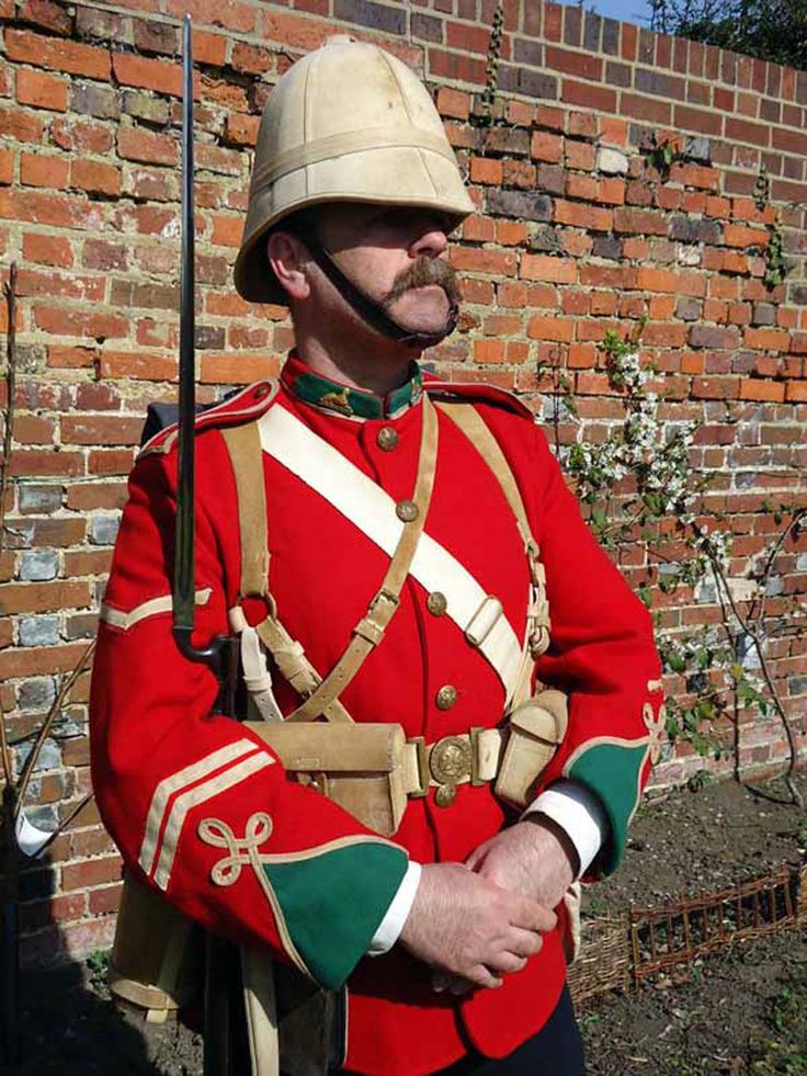 Corporal Church, a modern day re-enactor, dressed as Corporal of the 24th Regiment as on campaign in South Africa at the time of the Anglo-Zulu war in 1879. Gallery   The Regimental Museum of The Royal Welsh (Brecon)