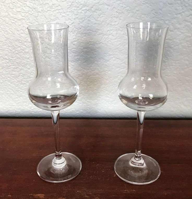 Vintage Oberglas cordial glass, Midcentury liquor glasses, Thistle cut glasses, Pair of glasses, stemmed cordial glasses, Austrian glass by CaterinasVintage on Etsy