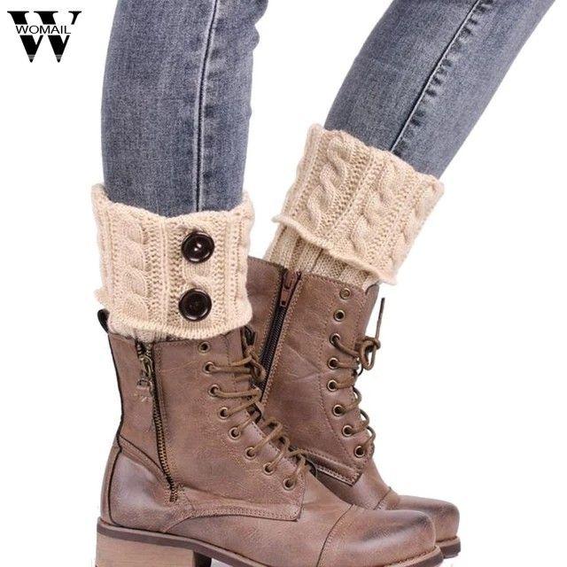 Damen Beinwärmer Legwarmer Stiefelsocken Stulpen Winter Stiefel Warm-Beinstulpen