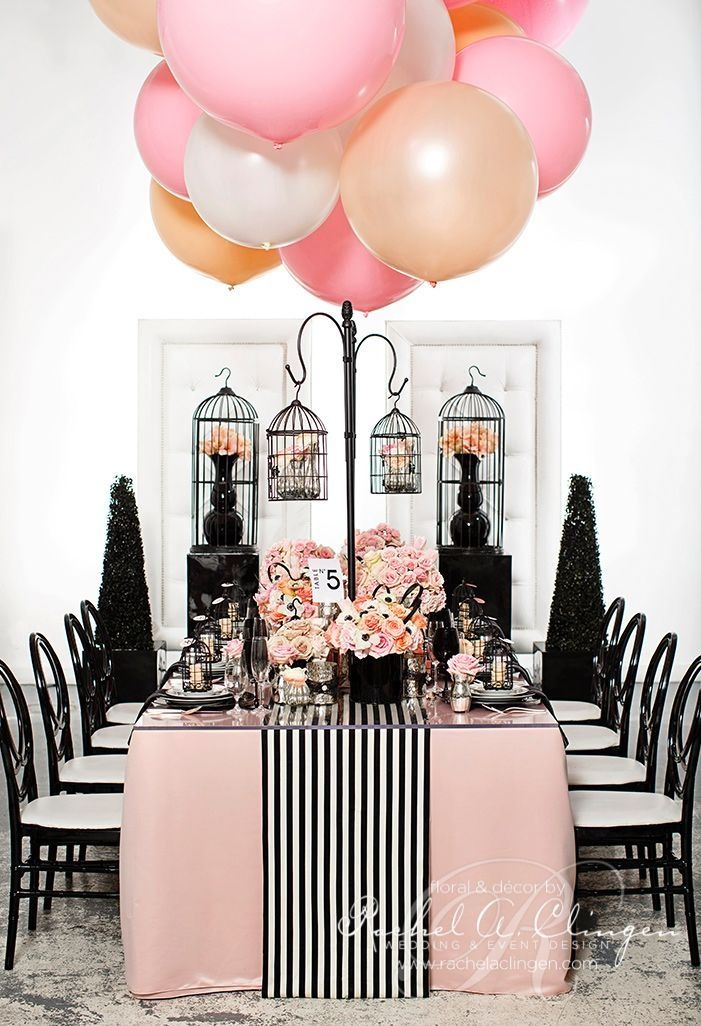 Coco Chanel inspired party theme - magical..bridal shower or baby shower