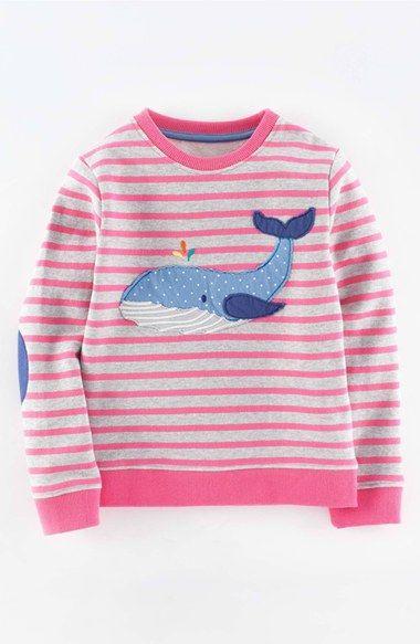 Mini Boden Appliqué Sweatshirt (Toddler Girls, Little Girls & Big Girls) available at #Nordstrom