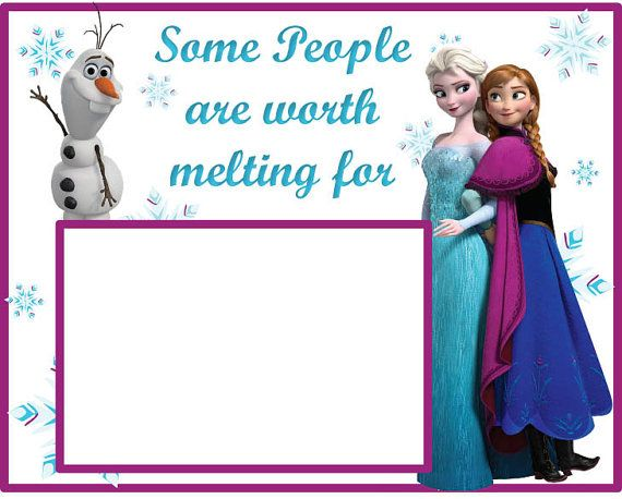 disney princess frozen picture frame by kimfdesigns on etsy - Disney Frozen Picture Frames