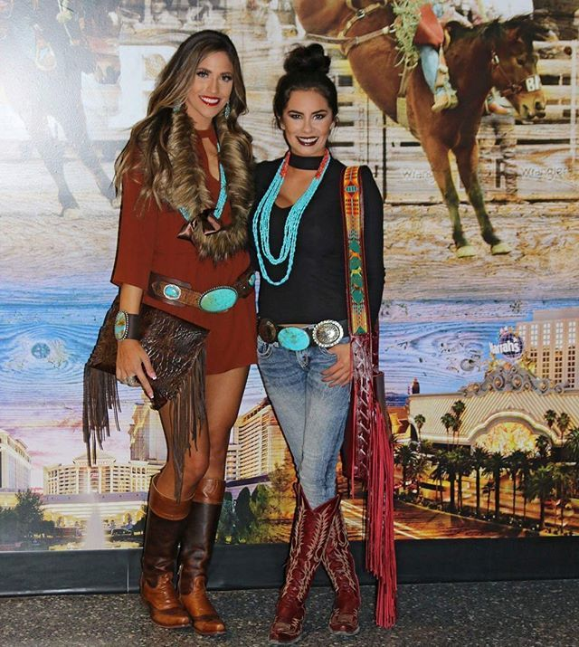 @jenaventuracci and @shainaclifford wearing @britwest777 jewelry and buckles!
