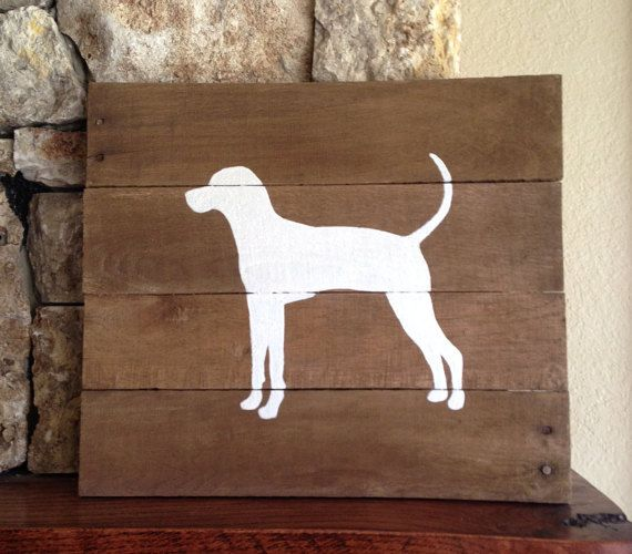 Treeing Walker Coonhound -  Reclaimed Wood Sign, Walker, I love Walker Hounds, Walker Hound Art, Hound, Hunting Dog, Dog Art, Repurposed,