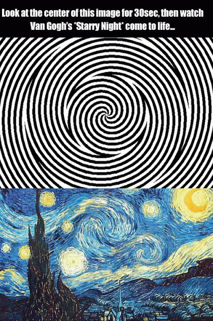 Cool Gif: Starry Night Optical Illusion.
