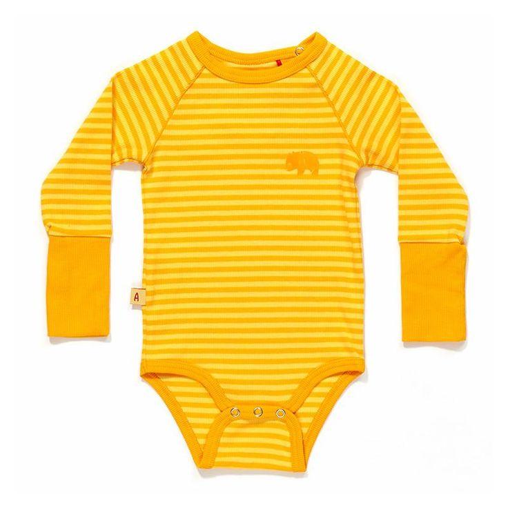 AlbaBaby Ealy bodysuit - yellow stripes Retro Baby Clothes - Baby Boy clothes - Danish Baby Clothes - Smafolk - Toddler clothing - Baby Clothing - Baby clothes Online