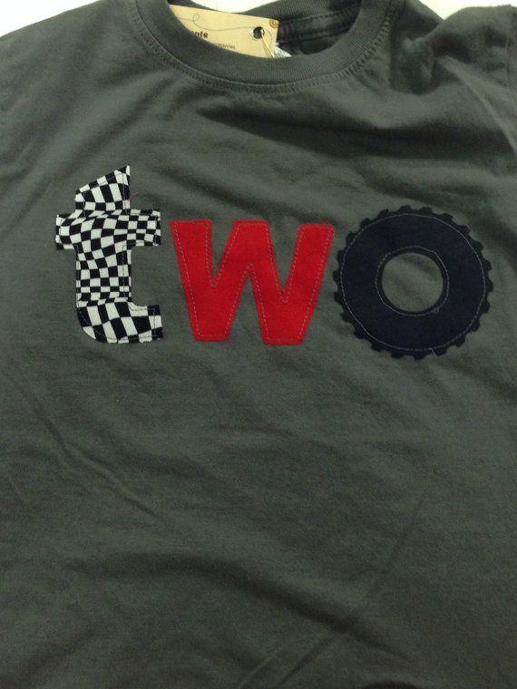 Racecar birthday shirt monster truck wheel by BabyEmbellishments