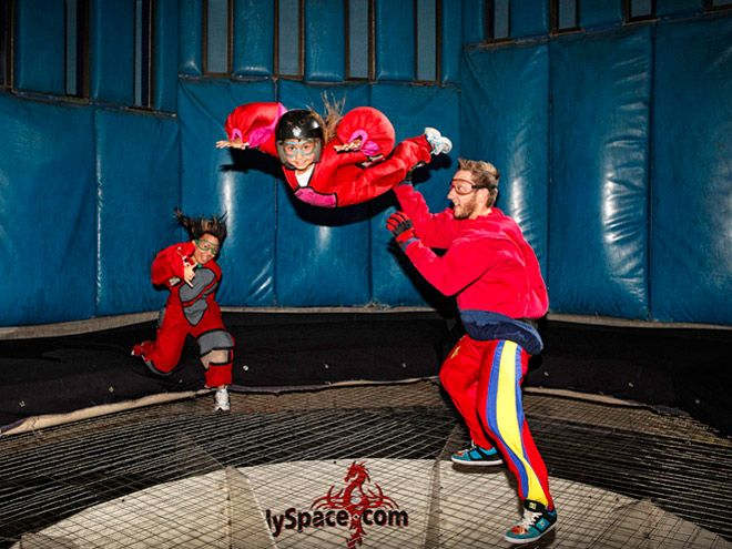 Vegas Indoor Skydiving provides adults and kids alike with a fun and unique freefall adrenalin rush while they float, fly and fall in 120 mph winds.