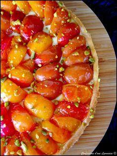 Tarte pâtissière aux abricots - Sur une crème pâtissière selon Ladurée