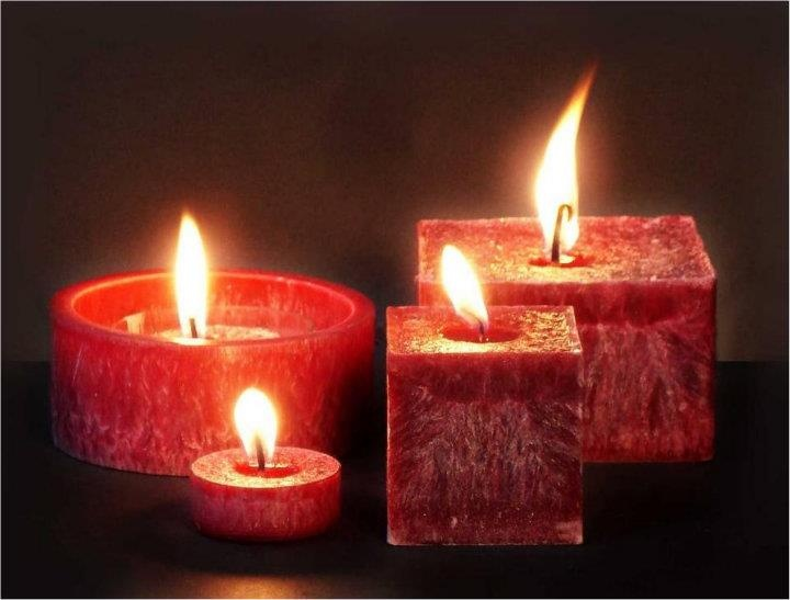 palm wax candle come as pillars and  cubes, exclusive stream-lined designer candles and lanterns....