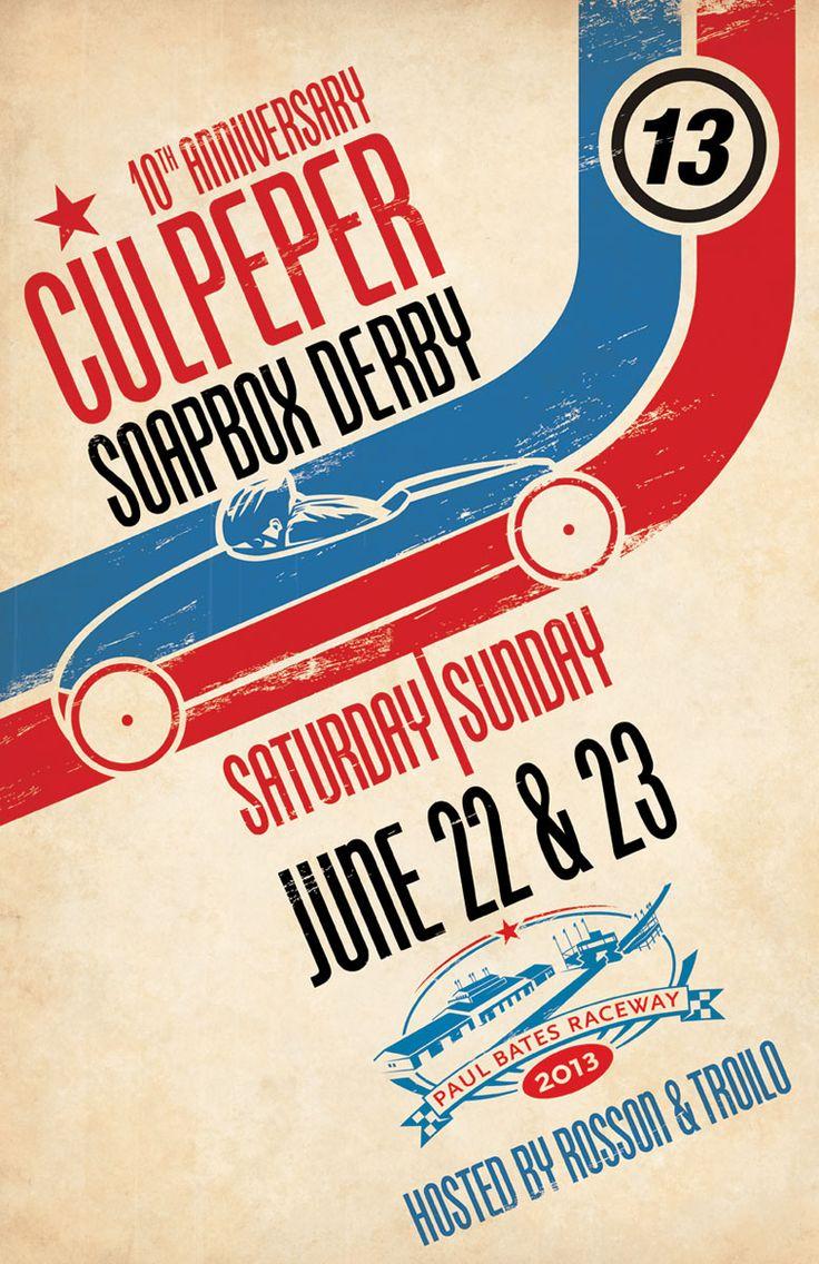 Zoo poster design - Culpeper Soap Box Derby