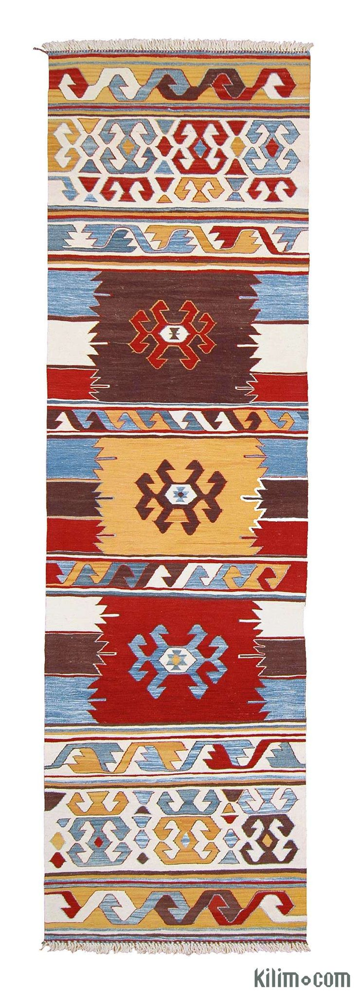 K0003860 New Turkish Kilim Runner Rug | Kilim Rugs, Overdyed Vintage Rugs, Hand-made Turkish Rugs, Patchwork Carpets by Kilim.com