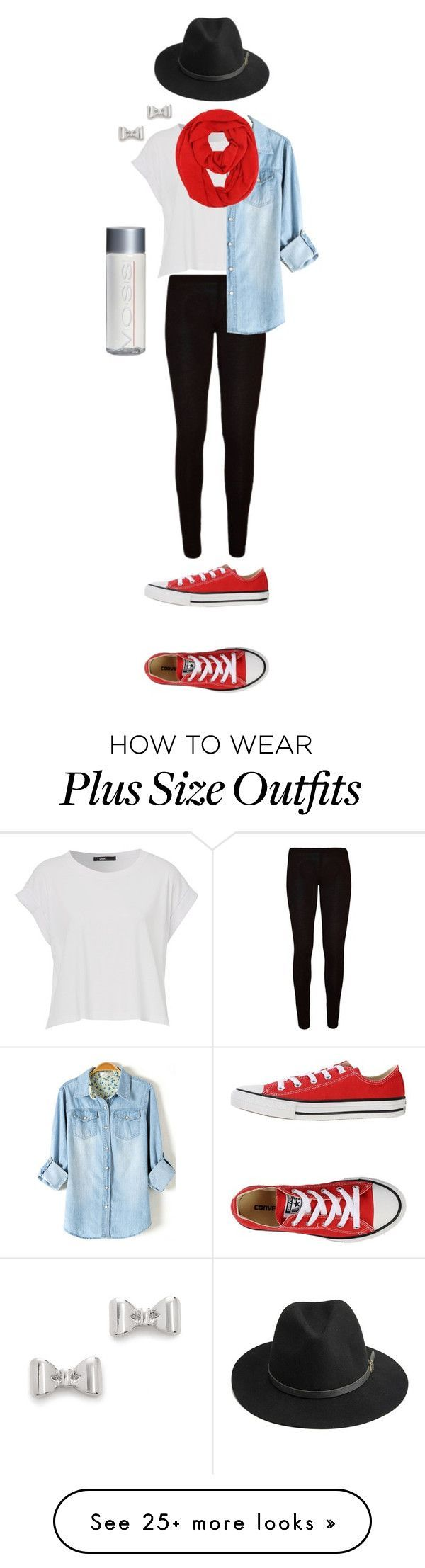 """Black and Red"" by sportinggirl00 on Polyvore featuring Converse, BeckSöndergaard and Marc by Marc Jacobs"