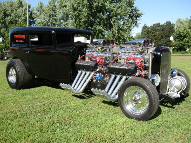 1932 Ford Sedan Delivery. May be the most outrageous street rod on the planet! 200K+ to build w/ 2 572 blown Kieth Black EFI all aluminum motors! Unreal