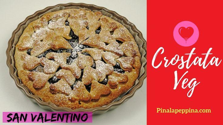 Crostata crema pasticcera con mirtilli veg.  #veg #vegan #crostata #cake #sweet #valetine #ricette #video #videoricette #cibo #youtube #youtubeitalia
