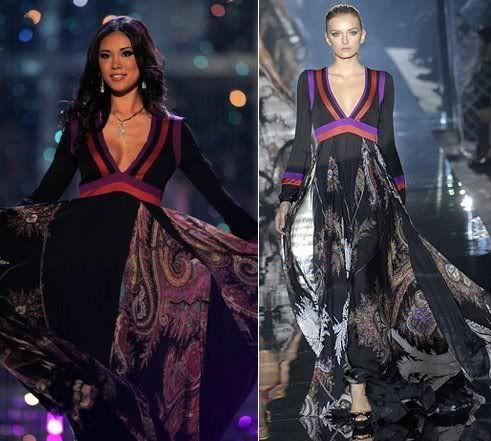 Miss Japan Riyo Mori - Miss Universe 2007 – Gucci Primavera Verano 2007