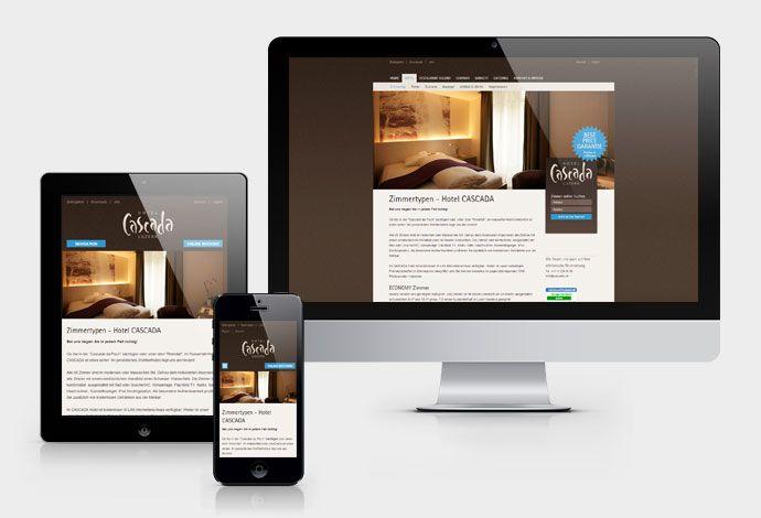 CASCADA Hotel - Responsive Webdesign