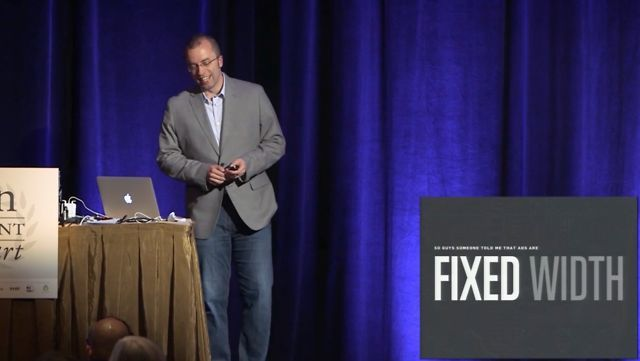 """Ethan Marcotte: Rolling Up Our Responsive Sleeves – AEA Boston June 18, 2012. """"Rolling Up Our Responsive Sleeves""""  An Event Apart presentati..."""