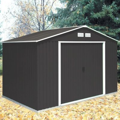 For Only £439.00 The Store More Springdale Anthracite Apex Metal Shed 10x8  Can Be Yours