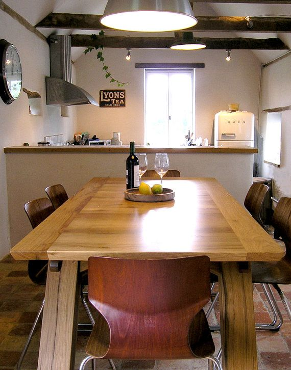 Bespoke Reclaimed Oak Desk or Dining Table by MakersFurniture. 65 best Makers Bespoke Tables images on Pinterest   Bespoke