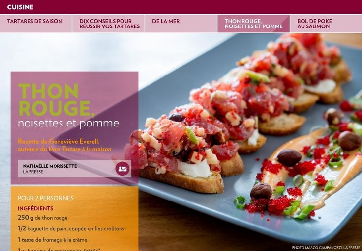 Tartares de saison - La Presse+