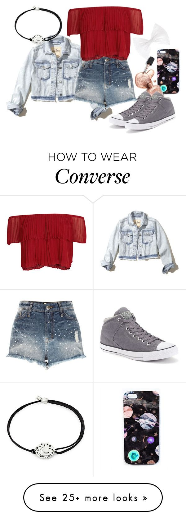 """Demigod Daughter Of Night"" by cfull on Polyvore featuring Hollister Co., River Island, Keepsake the Label, Alex and Ani, Nikki Strange and Converse"