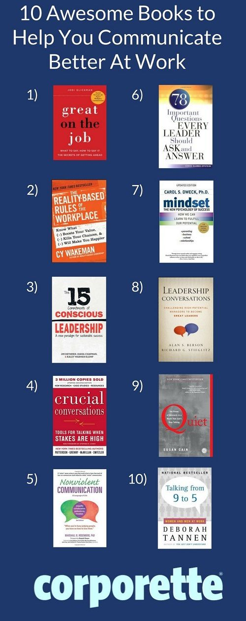 Love these books! Read a few from this list to Learn How to Become a Better Communicator at work and in your personal life!