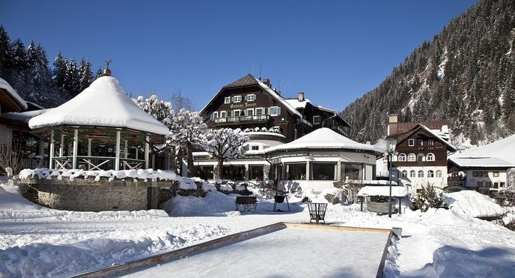 snowy Gruner Baum in Bad Gastein