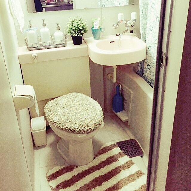 女性で、のニトリ/IKEA/一人暮らし/ユニットバス/バス/トイレについてのインテリア実例を紹介。(この写真は 2015-04-01 22:25:23 に共有されました)