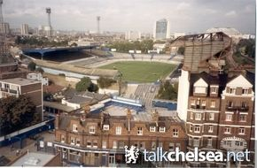 The Bridge in 1985 - the new East Stand (only about 10 years old then) looking a bit sad and unloved.
