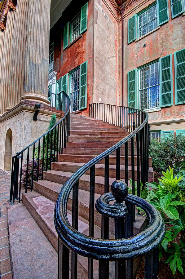 Randolph Hall stairs at the College of Charleston in South Carolina.