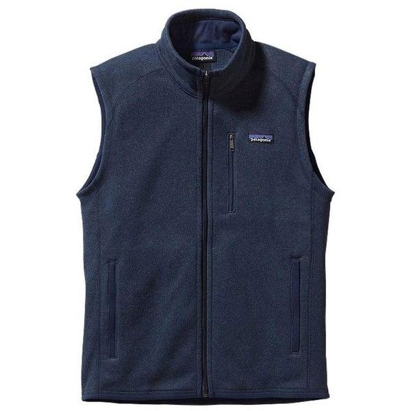 Patagonia Better Sweater Vest ($99) ❤ liked on Polyvore featuring outerwear, vests, blue vest, vest waistcoat, sweater vest, blue sweater vest and patagonia vest