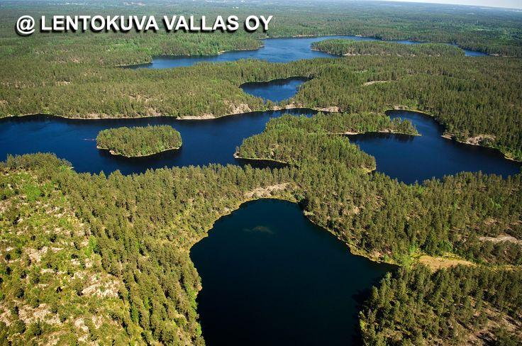 Nuuksion kansallispuisto Ilmakuva: Lentokuva Vallas Oy