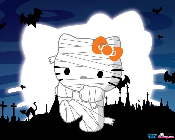 Hello Kitty Halloween Zombie Wallpaper