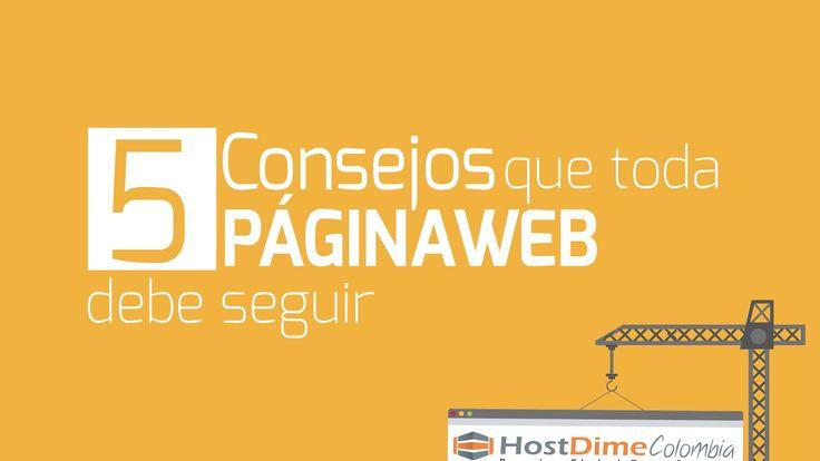 5 Consejos que toda Página web debe seguir