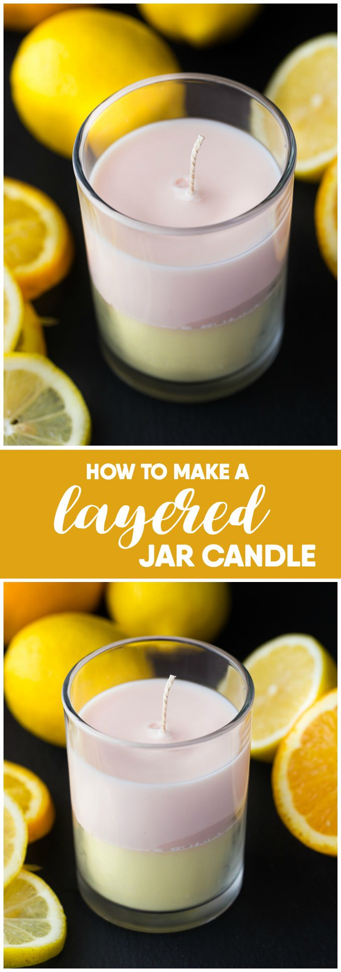 How to Make a Layered Jar Candle - You will not believe how easy it is to make. It makes a wonderful DIY gift!